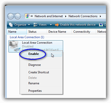 Windows Vista / ネットワーク接続