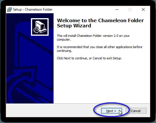 Chameleon Folder のインストール