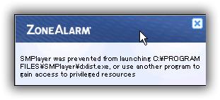 ZoneAlarm Free Firewall / 既存プログラムのネットワーク接続を遮断(ブロック)