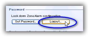 ZoneAlarm Free Firewall 環境設定 / パスワード設定